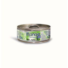 Влажный корм Monge Cat Natural для кошек, тунец с курицей, ж/б, 80 г