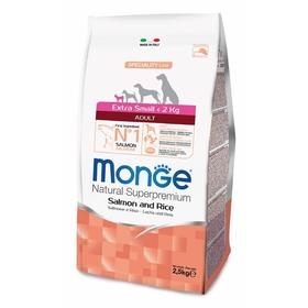 Сухой корм Monge Dog Speciality Extra Small для собак, лосось/рис, 2,5 кг.
