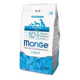 Сухой корм Monge Dog Speciality Light для собак, низкокалорийный, лосось/рис, 2,5 кг.