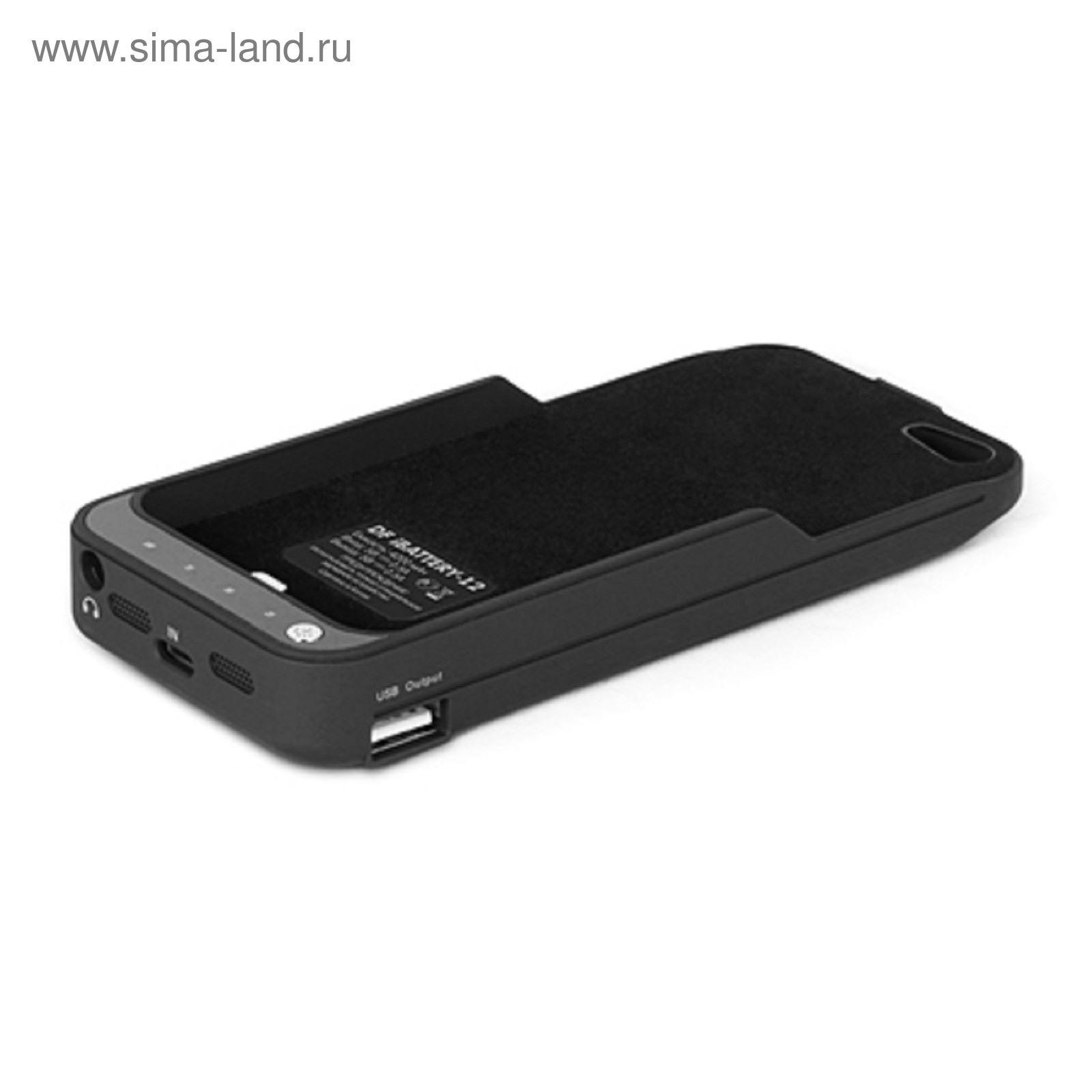 25efef5bc4ed2 Аккумулятор-чехол DF iBattery-12 iPhone 5/5S, черный 4200 mAh серия ...