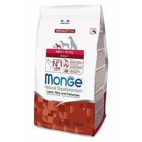 Сухой корм Monge Dog Speciality Mini для собак, ягненок/рис/картофель, 2,5 кг.