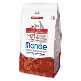 Сухой корм Monge Dog Speciality Mini для щенков, ягненок/рис/картофель, 2,5 кг.