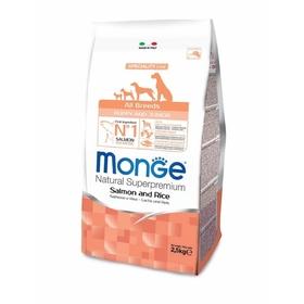 Сухой корм Monge Dog Speciality Puppy&Junior для щенков, лосось/рис, 2,5 кг.