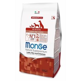 Сухой корм Monge Dog Speciality Puppy&Junior для щенков, ягненок/рис/картофель, 2,5 кг.