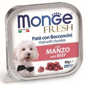 Влажный корм Monge Dog Fresh для собак, говядина, ламистер, 100 г