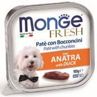 Влажный корм Monge Dog Fresh для собак, утка, 100 г
