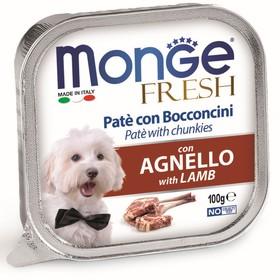 Влажный корм Monge Dog Fresh для собак, ягненок, 100 г Ош