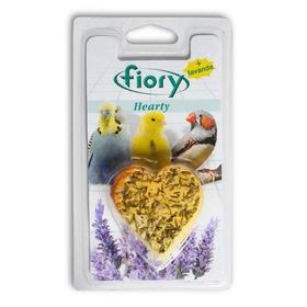 Био-камень для птиц  FIORY earty, с лавандой в форме сердца, 45 г