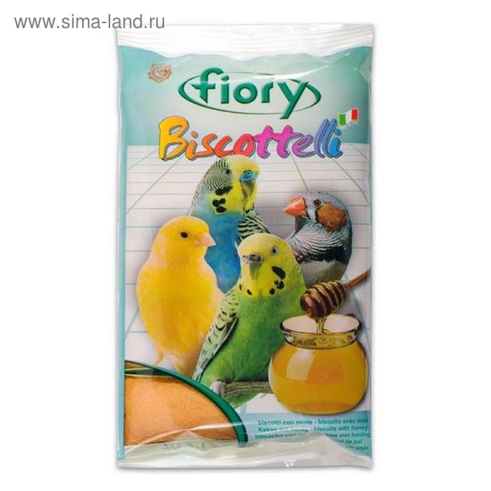 Лакомство бисквит для птиц FIORY Biscottelli, с медом, 30 г
