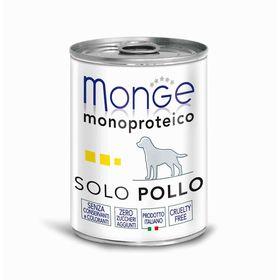 Влажный корм Monge Dog Monoproteico Solo для собак, паштет из курицы, 400 г