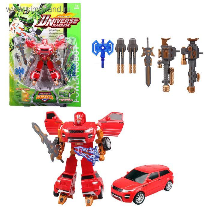 """Робот-трансформер """"Рободжип"""", с набором оружия, цвета МИКС"""