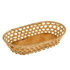 Фруктовница овальная, редкое плетение, бамбук,(27*17*Н5) 833105