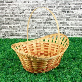 Корзина «Плетёнка», для шампанского, плетеная, с ручкой, 36×28×14,5/10 см
