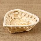 Хлебница «Сердечко», ажурное плетение, 16х16х4 см, бамбук