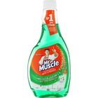 Средство для мытья стекол с нашатырным спиртом Mr.Muscle «Утренняя роса», запасная бутылка, 500 мл