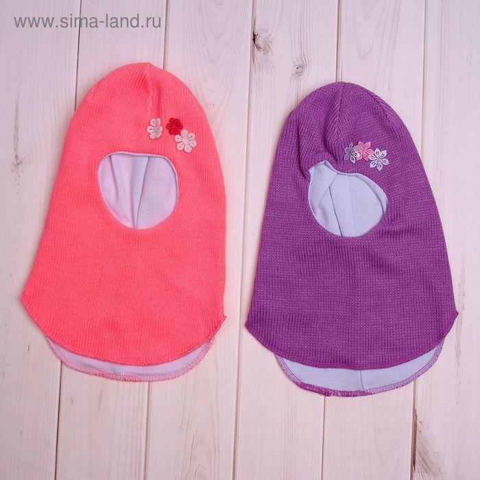 Шлем-капор для девочки, размер 52-54, цвет МИКС 433-2_Д