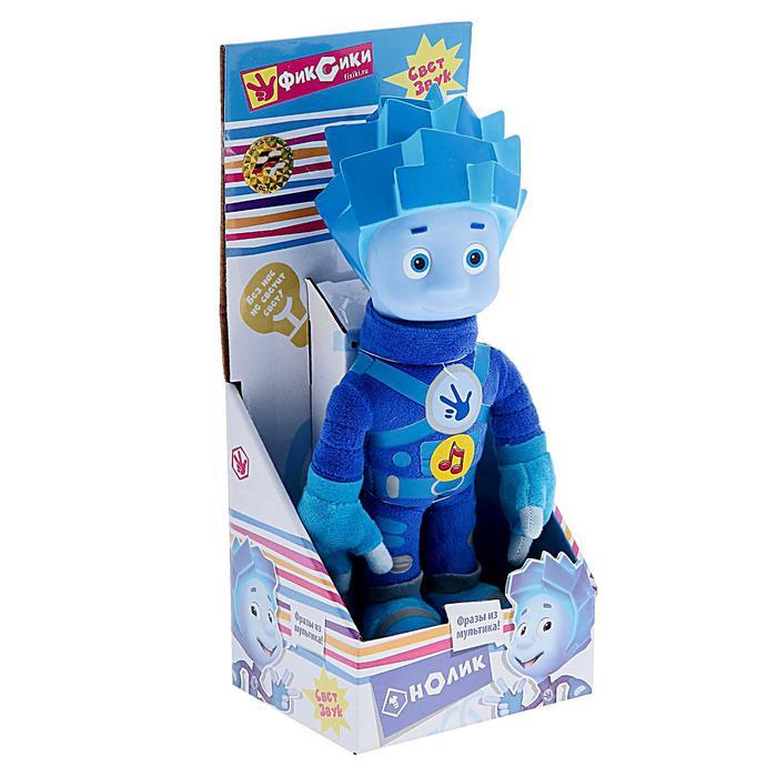 Мягкая музыкальная игрушка «Фиксики, Нолик» со световым эффектом, 24 см - фото 4469080