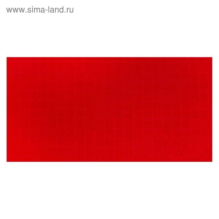 Полотенце махровое, цвет красный, размер 40х70 см, хлопок 340 г/м2