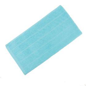 Полотенце махровое жаккардовое 47х90 см, голубой, хлопок 100%, 280г/м2