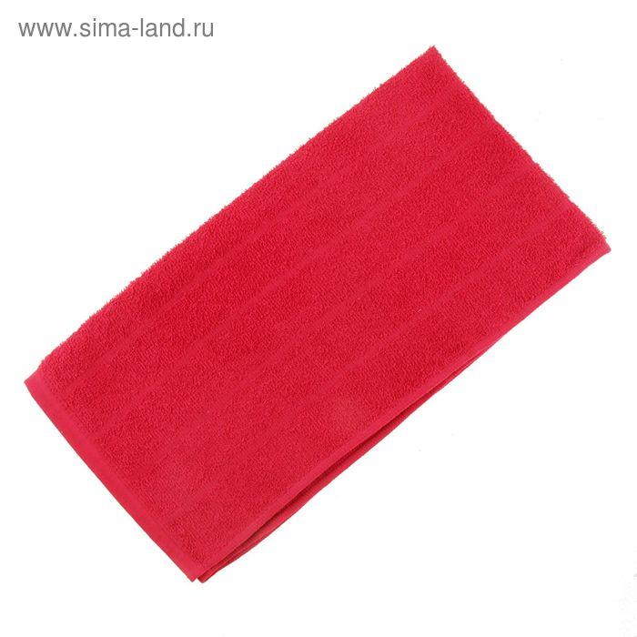 Полотенце махровое, цвет красный, размер 47х90 см, хлопок 280 г/м2