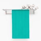 Полотенце махровое, цвет морская волна, размер 30х60 см, хлопок 280 г/м2