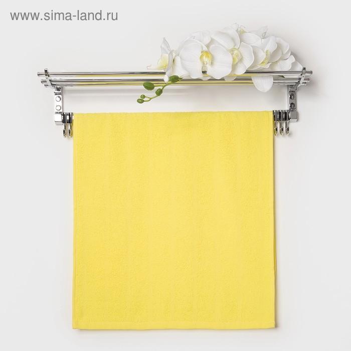 Полотенце махровое, цвет светло-лимонный, размер 47х90 см, хлопок 280 г/м2