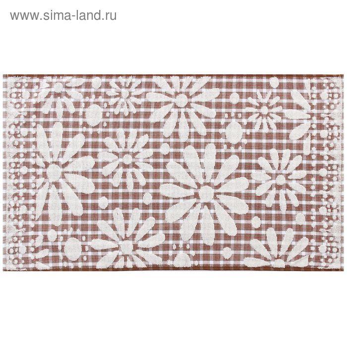 Полотенце махровое жаккардовое, ромашка белая, размер 34х75 см, хлопок 340 г/м2