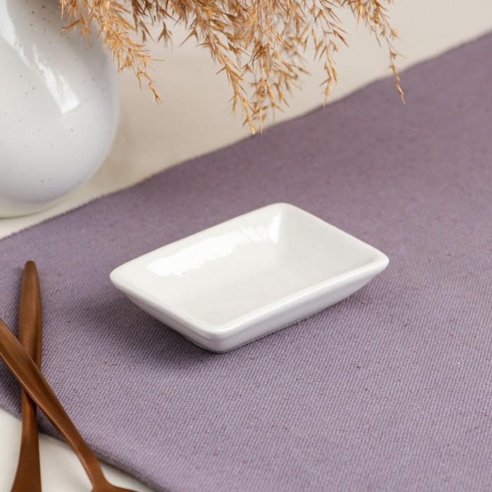 Соусница для суши, белая, 50 мл, керамика