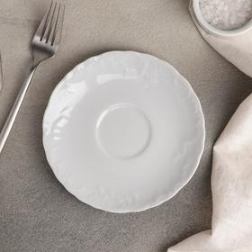 Блюдце, d=15,7 см, цвет белый
