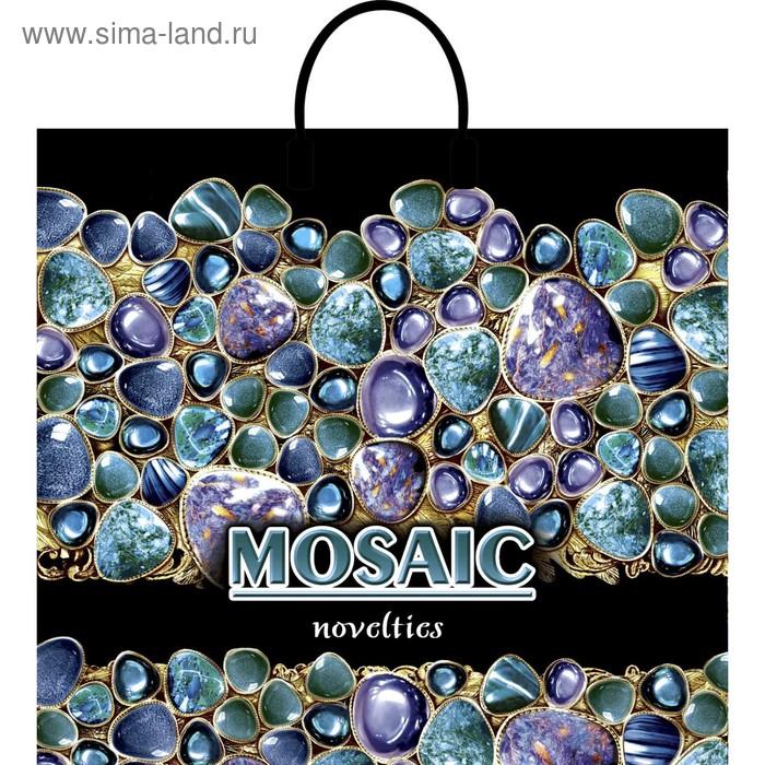 """Пакет """"Мозаика"""", полиэтиленовый с пластиковой ручкой, 38 х 35 см, 90 мкм"""