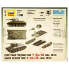 Сборная модель «Советский танк Т-34/76» - фото 1007900