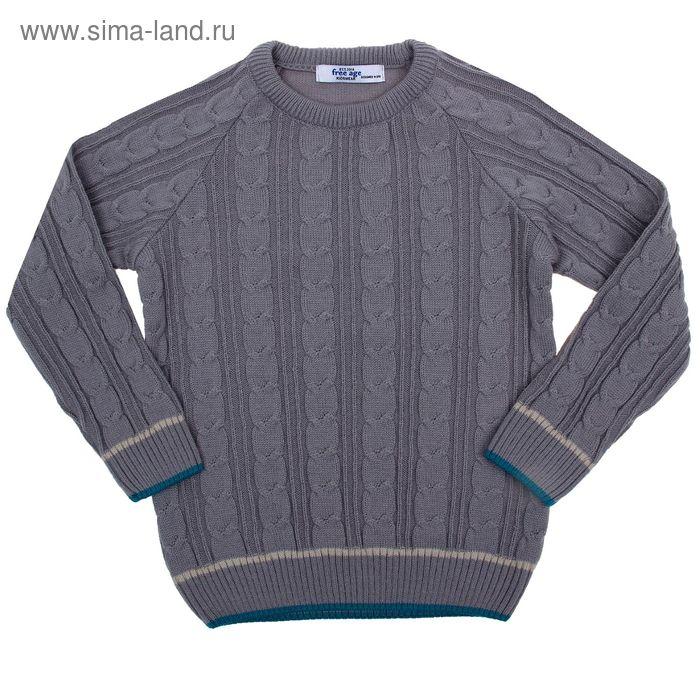 Джемпер для мальчика, рост 104 см, цвет серый (арт. ZB 26001-M1_Д)