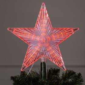 """Фигура """"Звезда белая ёлочная"""" 22Х22 см, пластик, 30 LED, провод 2 м, 240V КРАСНЫЙ"""