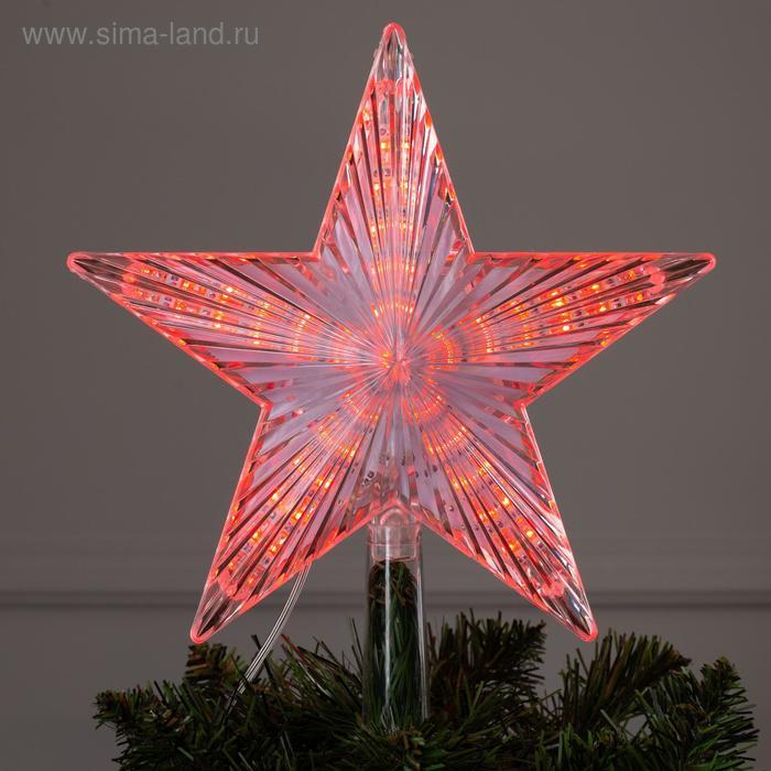 """Фигура """"Звезда белая ёлочная"""" 22Х22 см, пластик, 30 LED, 240V КРАСНЫЙ"""
