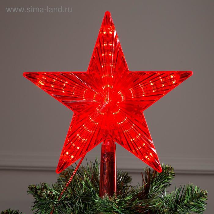 """Фигура """"Звезда красная ёлочная"""" 22Х22 см, пластик, 30 LED, 240V КРАСНЫЙ"""