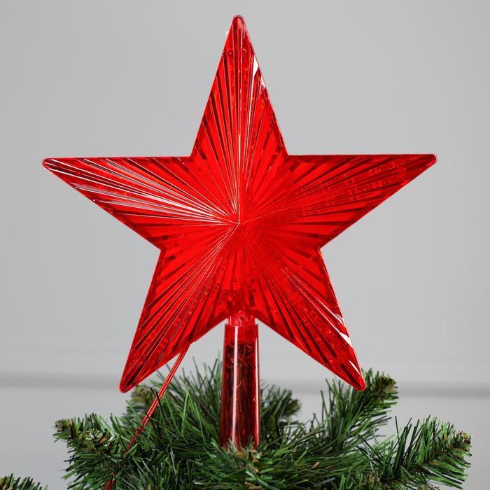 """Фигура """"Звезда красная ёлочная"""" 22Х22 см, пластик, 30 LED, провод 2 м, 240V КРАСНЫЙ"""