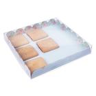 Коробка для кондитерских изделий с PVC крышкой «Моменты счастья», 21 × 21 × 3 см