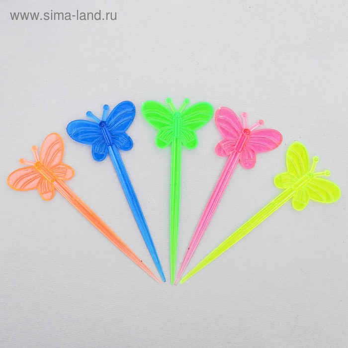 Skewers for canapes Butterfly MIX color (set of 24 PCs)