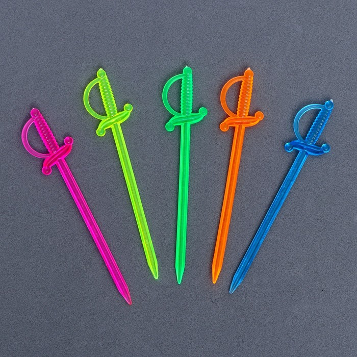 "Skewers for canapes ""Sword"" MIX color (set of 24 PCs)"