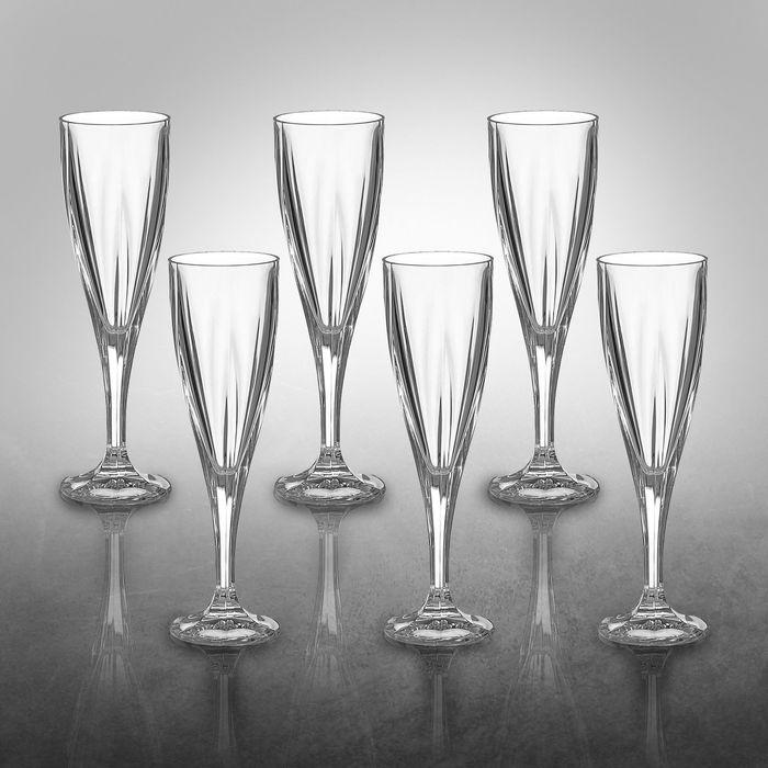 Набор фужеров для шампанского 180 мл, 6 шт
