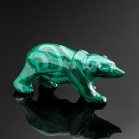 """Сувенир """"Медведь средний"""", натуральный малахит"""