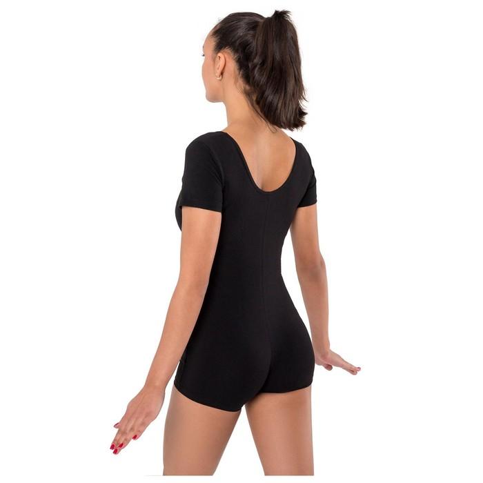 Купальник-шорты, с коротким рукавом, размер 40, цвет чёрный - фото 376923449