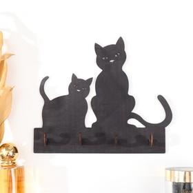 "Ключница открытая ""Две кошки""  20,5×17,5×3 см"