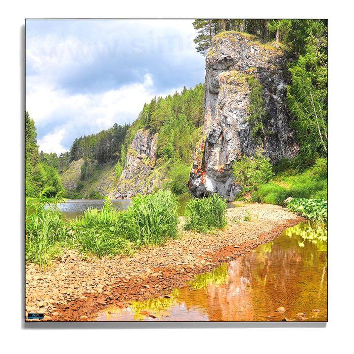 Авторская фотокартина «Утёсы на Серьге»