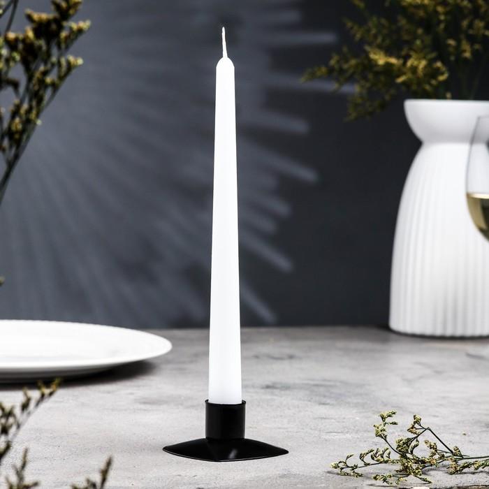 Подсвечник квадрат черный муар