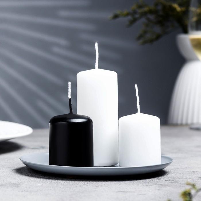 Подсвечник чашка 140 серый