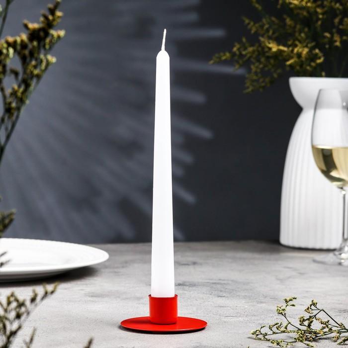 Подсвечник круг красный