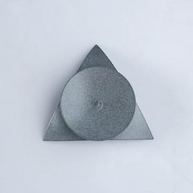 подсвечник звездочка серый - фото 1717972