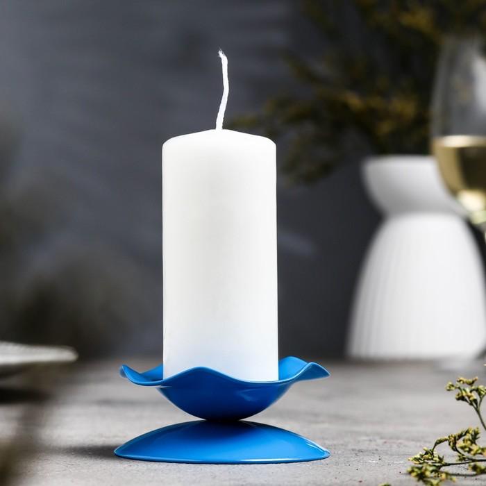 Подсвечник кувшинка Н синий