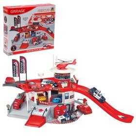 Игровой набор «Служба спасения 911», 2 уровня, вертолетная площадка